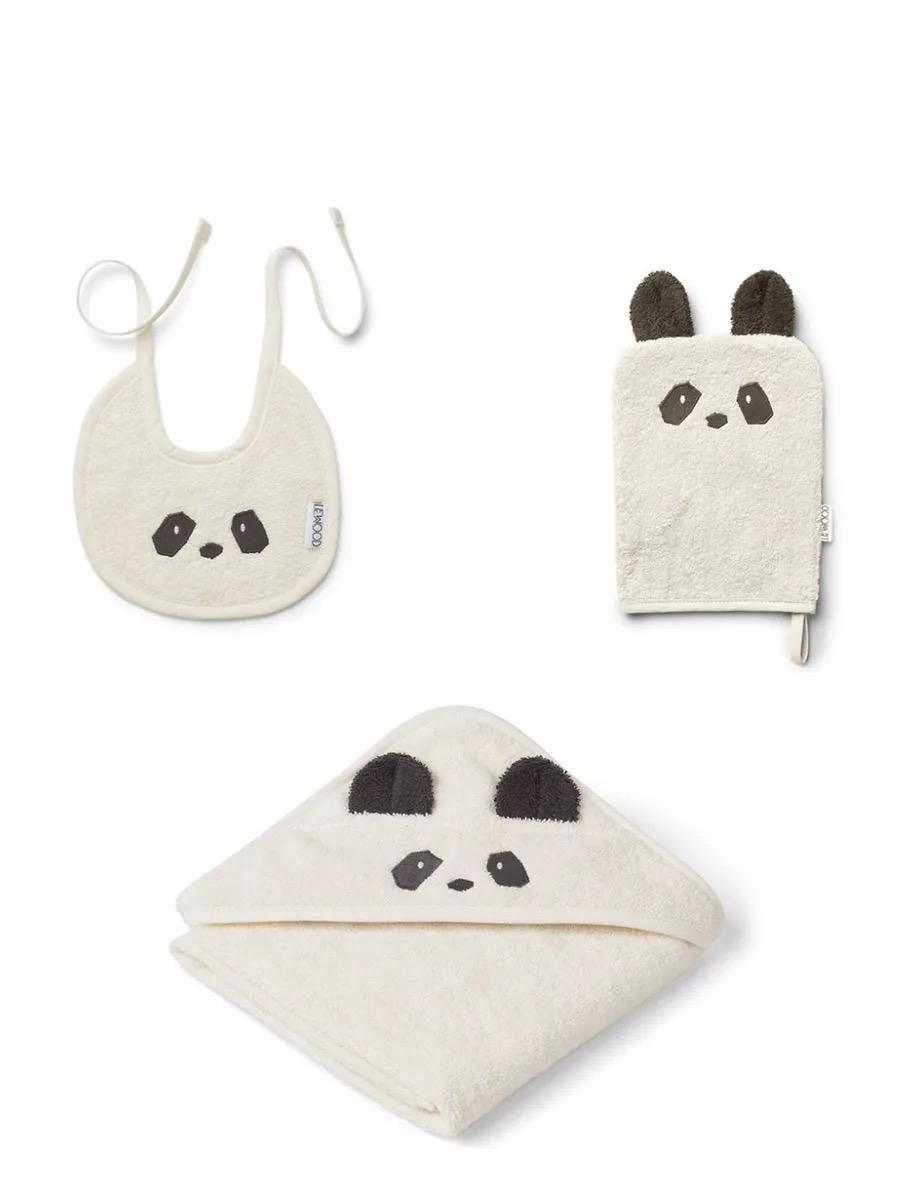 【现货爆款】丹麦 liewood 宝宝沐浴套装(浴巾,口水巾,搓澡巾)礼盒装