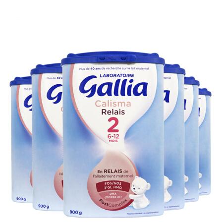 【法国直邮包邮包税】 佳丽雅 Gallia 2段近母乳型-900克 6罐装