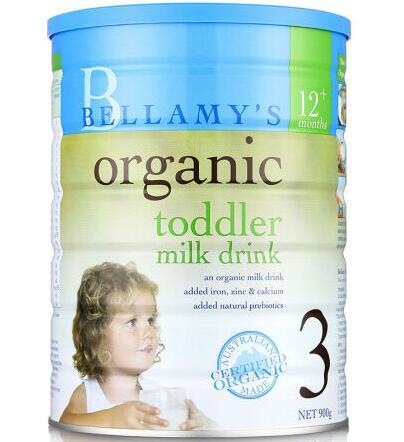 【6罐装】澳洲直邮包税 Bellamys贝拉米3段婴幼儿有机牛奶粉3段 900g ×6罐 (1-3岁以上)