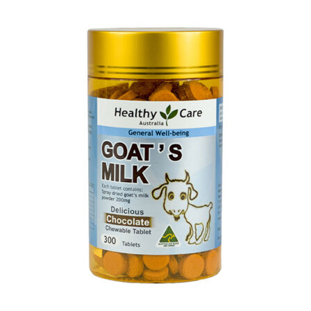 【2件装】Healthy Care羊奶片巧克力味 300粒 澳洲药房直供