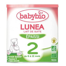 伴宝乐BABYBIO LUNEA 防吐型2段900克6罐装