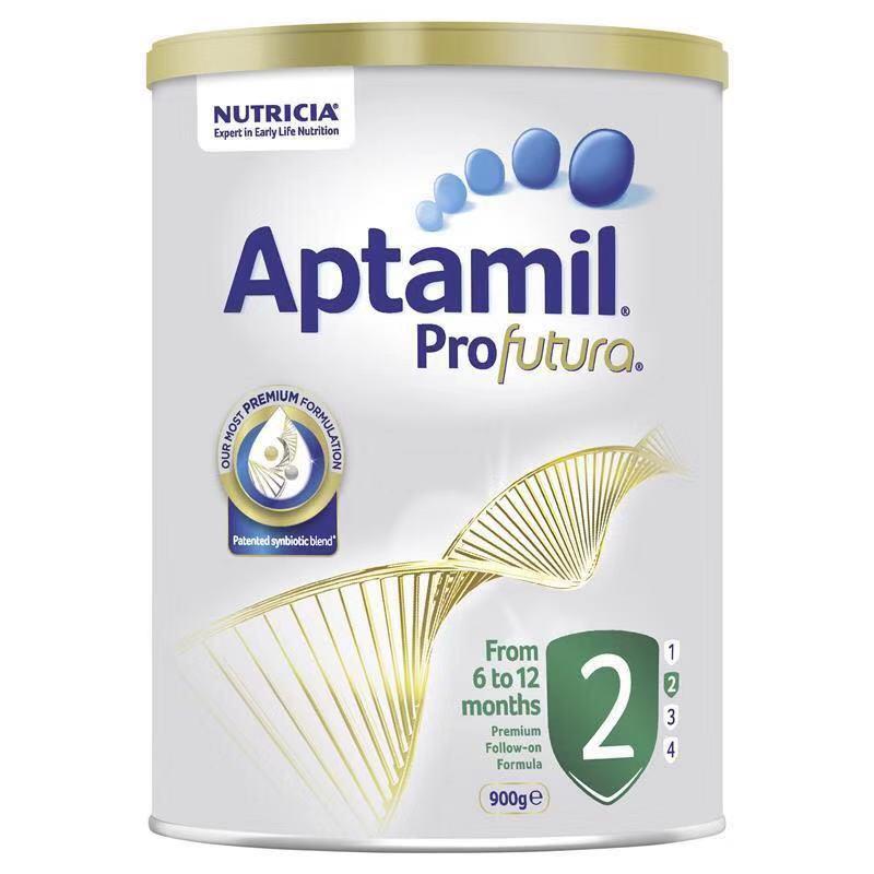 【6罐装】澳洲直邮包税 爱他美Aptamil 白金版婴幼儿奶粉2段(6-12个月)900g×6罐
