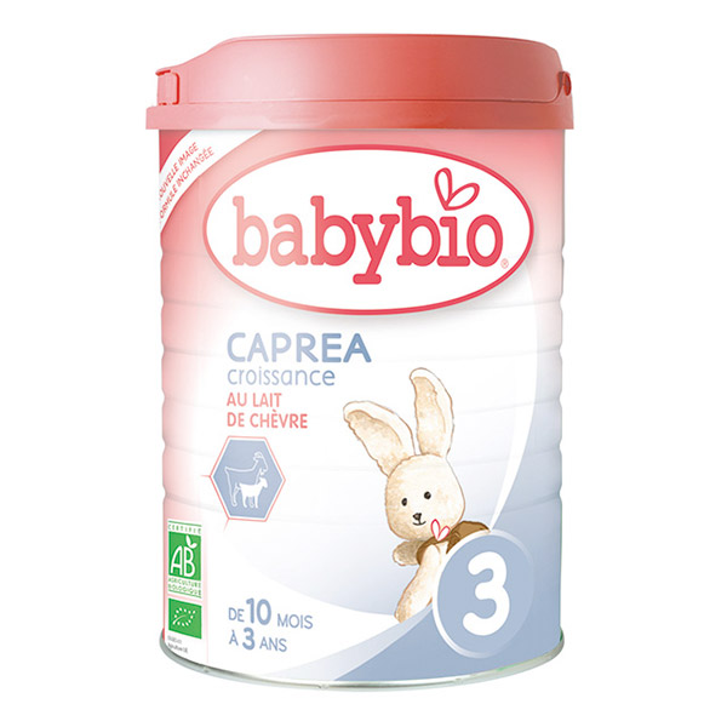 法国BABYBIO CAPREA伴宝乐 有机婴幼儿配方奶粉 羊奶粉900g 3段 6罐装
