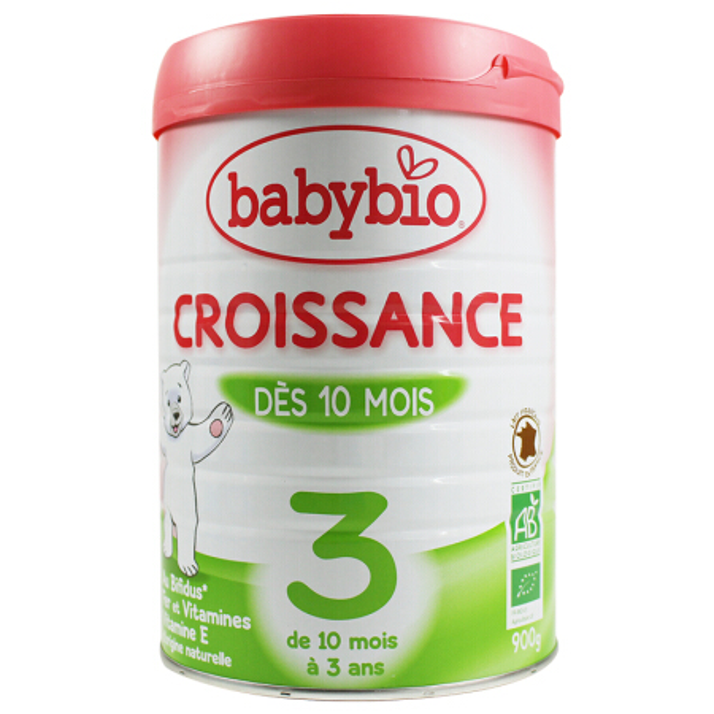 【法国直邮6罐装】伴宝乐BABYBIO 成长奶粉 标准型3段900克6罐装