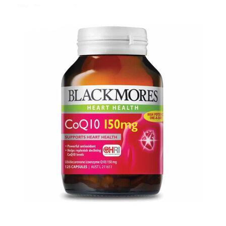 澳洲药房直供 澳佳宝Blackmores 高浓缩心脏辅酶 Q10胶囊150mg  125粒/瓶