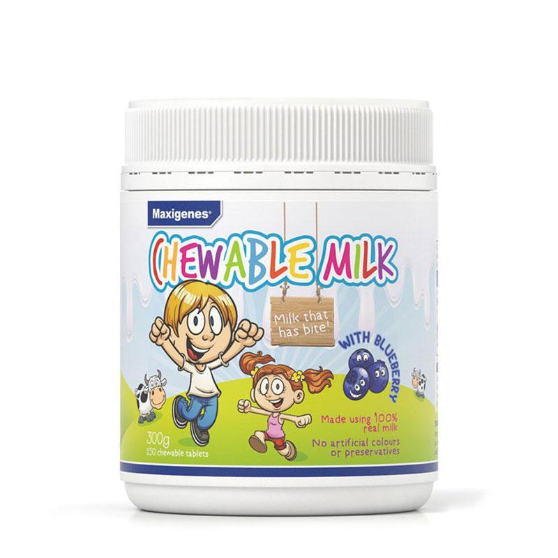 澳洲药房直供 Maxigenes 美可卓奶片蓝莓护眼牛奶咀嚼片 150粒