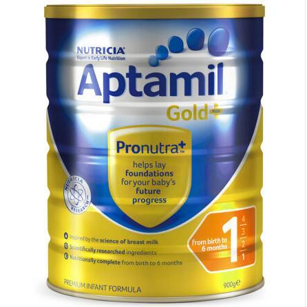 【6罐装】澳洲直邮包税 爱他美Aptamil 婴幼儿奶粉1段(0-6个月)900g×6罐