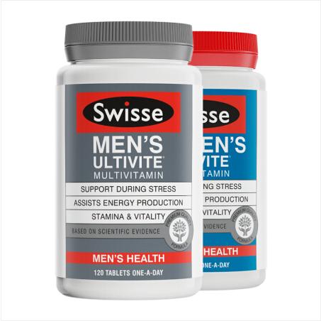 【澳洲直邮包邮包税】Swisse复合维生素 男士复合维生素120粒+女士复合维生素120粒