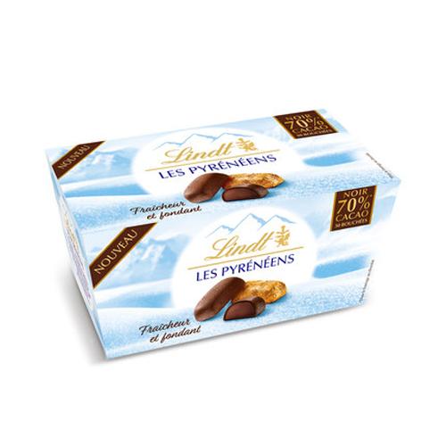 【预售法国进口】法国本土 瑞士莲冰山巧克力 30粒/盒(70%黑巧)