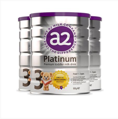 【三罐装】澳洲a2 Platinum 白金版婴幼儿奶粉1-4段 900g