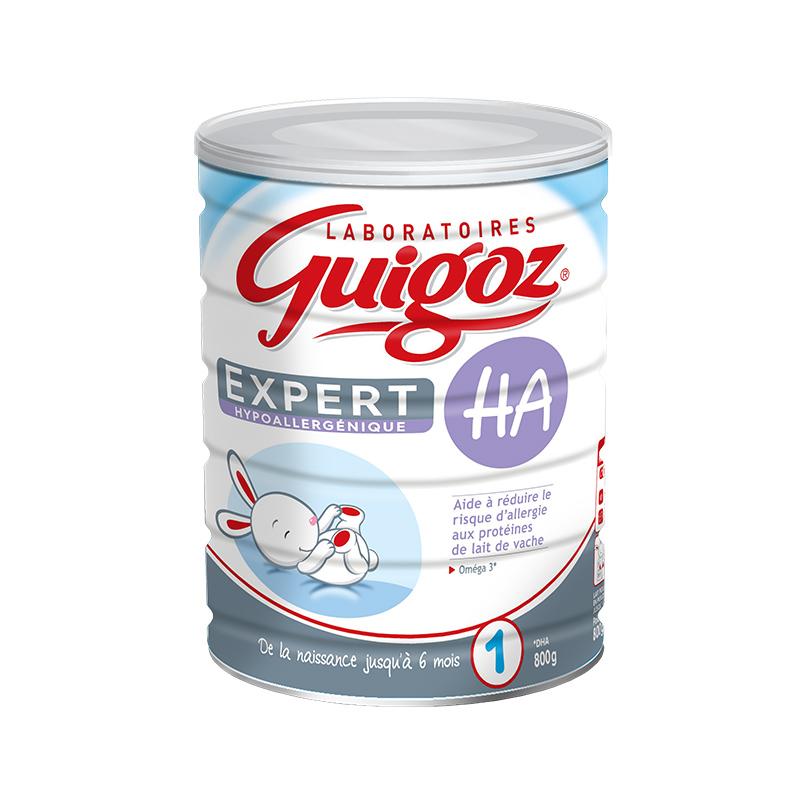 【 6罐装】法国直邮古戈氏Guigoz 防过敏1段 800G