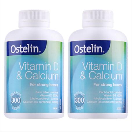 【澳洲直邮包邮包税】 奥斯特林Ostelin 维生素D成人钙片 2x300粒